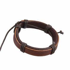 Bracelet Fantaisie Cuir Marron Bracelets, Belt, Leather, Jewelry, Conkers, Accessories, Belts, Jewlery, Jewerly