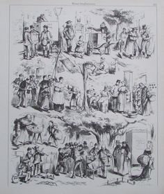 WIENER STRAßENSZENEN Wien Druck Art Print