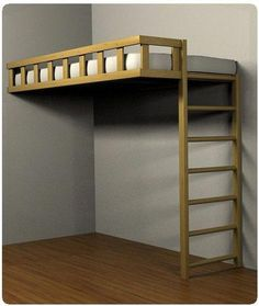 31 free diy bunk bed plans ideas that will save a lot of bedroom space Loft Beds For Small Rooms, Bunk Beds For Girls Room, Bunk Bed Rooms, Loft Bunk Beds, Bunk Bed With Desk, Bunk Beds With Stairs, Kids Bunk Beds, Bedrooms, Bunk Bed Mattress