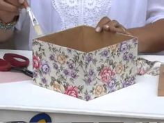 Vida com Arte | Baú com Forração Artesanal por Regiane Boppré - 23 de Julho de 2014 - YouTube