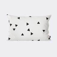 Black Mini Triangle Cushion. FERM Living