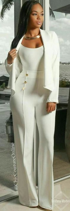 All White Glam // Fashion Look Work outfits for dresses casual outfits classy fashions lovely 2019 fall dress outfits All White Outfit, White Outfits, Classy Outfits, Casual Outfits, Work Outfits, Dress Outfits, Trend Fashion, Look Fashion, Womens Fashion