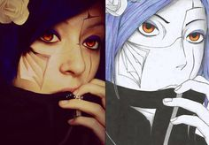 konan cosplay / drawing