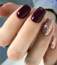 56 Glitter Gel Nail Designs For Short Nails For Spring 2019 Nailart Nageldesign Short Nail Designs, Acrylic Nail Designs, Acrylic Nails, Coffin Nails, Nail Color Designs, Glitter Nail Designs, Toe Nail Designs For Fall, Gel Manicure Designs, Manicure Colors