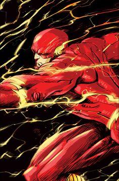 The Flash by Francesco Laquinta Flash Barry Allen, Flash Comics, Arte Dc Comics, Wally West, O Flash, The Flash Art, Flash Point, Dc Speedsters, Comic Books Art