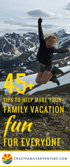 45 family travel tips on how to have the best family vacation! Traveling with kids is a lot of fun and here are some ideas on who to make your family trip fun for mom, dad and the kids!