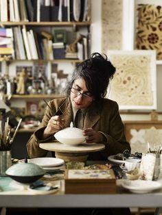 Ceramist by Photographer Andrew Montgomery Painter Photography, Fashion Photography, The Potter's Hand, Environmental Portraits, Ceramic Studio, Ceramic Pottery, Painted Pottery, Pottery Painting, Creative Portraits