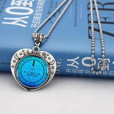 Gravity Falls Bill Cipher Heart Necklace