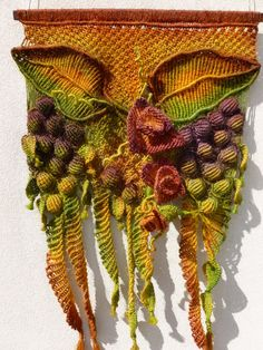 Macrame Wall Hanging Art 'Grapevine Gardens', handmade with hemp string