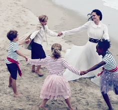 Mother's love: Angelina Jolie with her children for Vogue Magazine editorial.