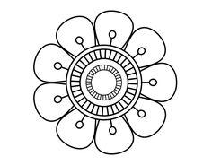 Mandala in flower shape coloring page Mandala Art, Mandala Pattern, Flower Mandala, Shape Coloring Pages, Mandala Coloring Pages, Tattoo Painting, Dot Painting, Simple Mandala, Flower Doodles