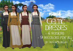 Celtic Dress by Anni K at Historical Sims Life • Sims 4 Updates