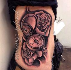 Joseph Barrios from Las Vegas.. Clock and roses tattoo.