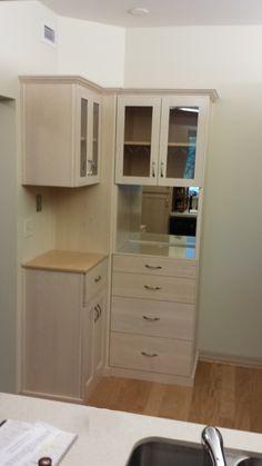 Custom Liquor Cabinet With Lots Of Storage.