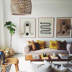 Prints, cushions, cosy