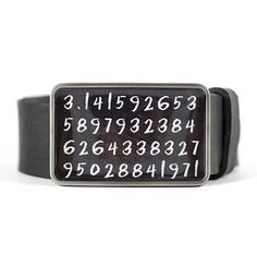 Pi Digits Belt Buckle Math Belt Buckle Science by myBeltBuckle