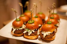 Fun finger food at the Havana Nights Soiree planned by Merryl Brown Events.