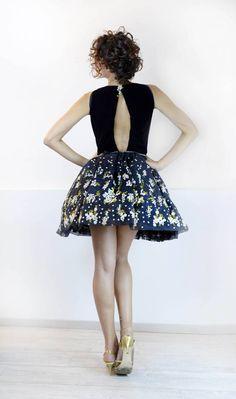 Adorable Robe Bleu Marine Stummer En Coton Et Elasthanne T.12 Mois Tbe Other Newborn-5t Girls Clothes