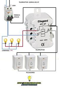 Esquemas eléctricos: telerruptor legrand esquema electrico monofasico p...