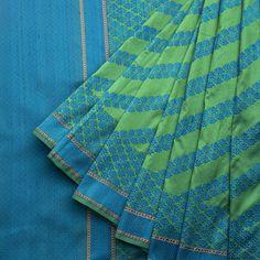 Taanbaan Handwoven Khadi Embroiderd Silk Sari 1012197 - Brands / Taanbaan - Parisera