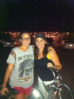 @CouchSurfing Where strangers become friends- Love showing Riya from Perth, Australia MY Orlando! Stardust Coffee on bikes at night! #fun