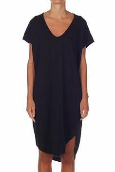 boxy t shirt dress with tail black | bassike