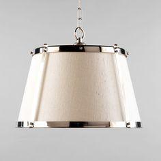 Vaughan Nickel Hanging Shade - traditional - pendant lighting - Vaughan Designs