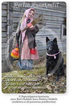 Pieni pääsiäisnoita ja koira, Railin Runokortti, A6 (pääsiäinen); 5, 10 tai 20 kpl Vintage, Vintage Comics