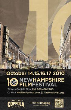 2010 New Hampshire Film Festival Jewish Film Festival, Film Festival Poster, Poster Ads, Quote Posters, Film Poster Design, Racing Events, Cultural Events, Event Marketing, Event Organization