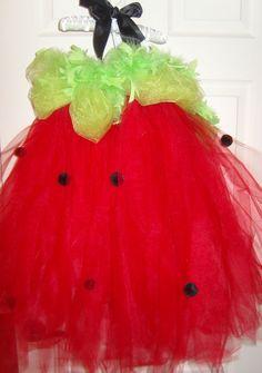 Strawberry Tutu Dress Size 12m 18m 24m 2T 3T 4T. $45.00, via Etsy.