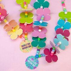 A fun craft activity for a hawaiian luau themed party.