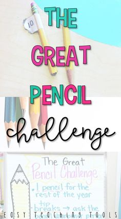 I've got a challenge for you and your class that will teach your students to value their materials while saving you money on pencils. The Great Pencil Challenge has been a life saver in our classroom this year! 5th Grade Classroom, 2nd Grade Teacher, Elementary Teacher, School Classroom, Elementary Schools, Classroom Ideas, Upper Elementary, Future Classroom, Classroom Schedule