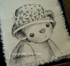 Michelle Palmer pen & ink on fabric