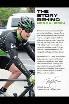 Herbalife 24 for the Athlete/The Story Behind It... I love that our CEO is an athlete and isn't this huge muscled guy!