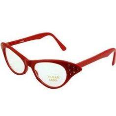 Red Rhinestone Cat Eye 50s Party Glasses ~ NEW