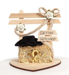 Gettin Hitched Western Wedding Cake Topper -- Hurry! Check out this great item : Baking tools