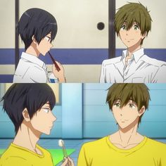 MakoHaru ♡ Makoto Tachibana x Haruka Nanase (Free! Dive to the Future and High☆Speed! Haru And Makoto, Free Makoto, Makoto Tachibana, Makoharu, Splash Free, Free Iwatobi Swim Club, Hot Anime Boy, Club Kids, Free Anime