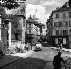 butte Montmartre annee 50