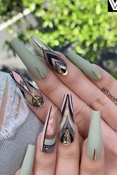Tribal Nail Art For Your Inspiration ❤ 30 Coffin Nail Designs You'll Want T…You can find Tribal nails and more on ou. Halloween Acrylic Nails, Best Acrylic Nails, Acrylic Nail Designs, Nail Art Designs, Nails Design, Tribal Nail Designs, Stiletto Nail Designs, Exotic Nail Designs, Turquoise Nail Designs
