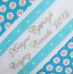 Make an Embroidered Signature Block 2012 - Pretty by Hand