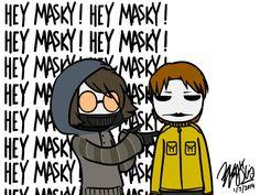 Clockwork Creepypasta Costumes | Toby and Masky GIF by EdwardElricKun
