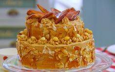Mary Berry tiered dobos torte recipe on The Great British Bake Off 2014 Masterclass