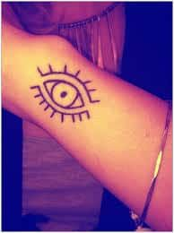 c4d51809dd6e5 What does evil eye tattoo mean? We have evil eye tattoo ideas, designs,  symbolism and we explain the meaning behind the tattoo.