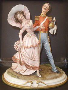 Capodimonte Capo di Monte Merli Cavalier Military and his lady