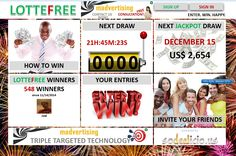 PLAY WITH Lotto Madness : NEW LOTTEFREE Free Entry, Invite Your Friends, Las Vegas, Invitations, Play, News, Happy, Madness, Musica