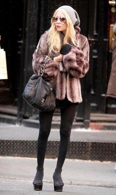 beanies, fur, tights, wedges, socks.