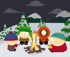 South Park Animated Gif 7 - Campfire