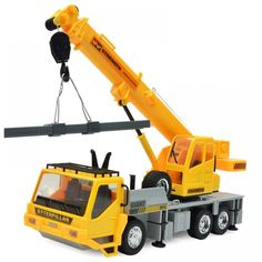 Wireless Remote Controlled Chargeable RC Engineering Vehicles Crane Truck for Kids Toy - Yellow - & Hobbies, RC Toys, RC Cars # # Sierra Leone, Belize, Uganda, Costa Rica, Seychelles, Ecuador, Sri Lanka, Taiwan, Puerto Rico