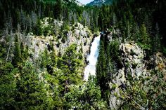 The waterfall on the Coors can, near Arapahoe Valley Ranch, Co.