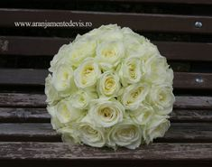 Buchet mireasa din trandafiri albi Avalanche. Nasa, Bouquet, Flowers, Florals, Bouquets, Flower, Blossoms
